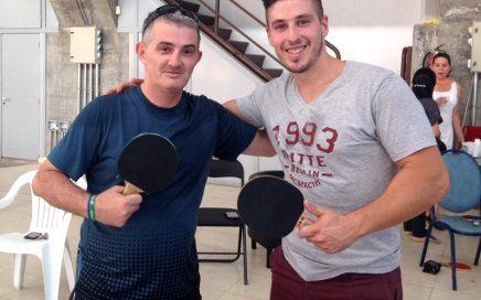 Ganadores del I Torneo de Ping Pong de Iglesia Betel