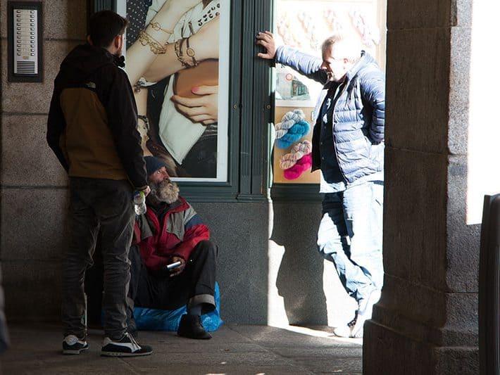 Equipo de Calle de Betel en el centro de Madrid